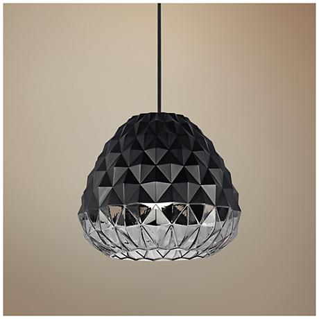"LBL Facette Grande 16 1/2""W Black LED Pendant Light"