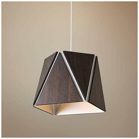 "Cerno Calx 10"" Wide Brushed Aluminum LED Mini Pendant"