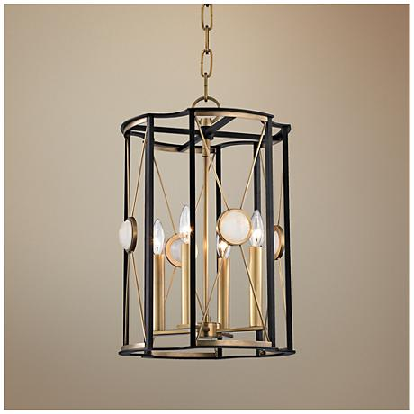 "Hudson Valley Cresson 13 1/2""W Aged Brass Pendant Light"