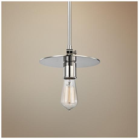 "Walker 8 1/4"" Wide Polished Nickel Mini Pendant"