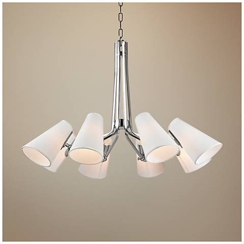 "Hudson Valley Patten 36 1/2"" Wide Nickel Chandelier"