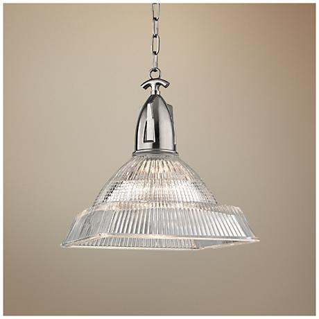 "Hudson Valley Langdon 14"" Wide Nickel Pendant Light"