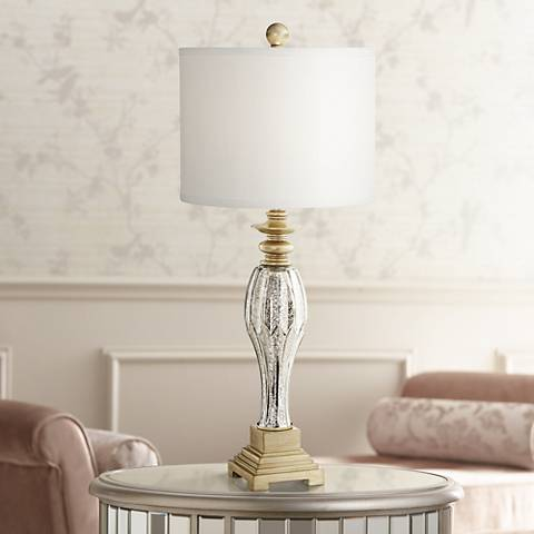 Tyson Mercury Glass Table Lamp by Regency Hill