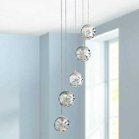 Possini Euro Encircled Crystal 48 1 4 Quot W Multi Light