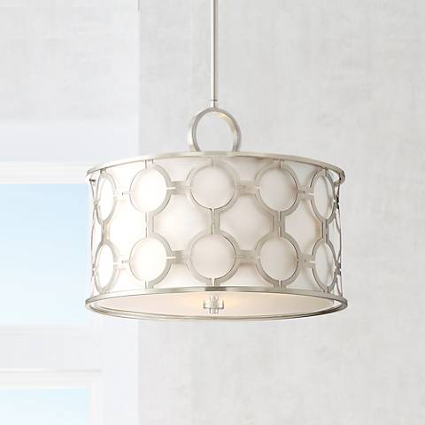 "Possini Euro Decadence 20""W Brushed Nickel Pendant Light"