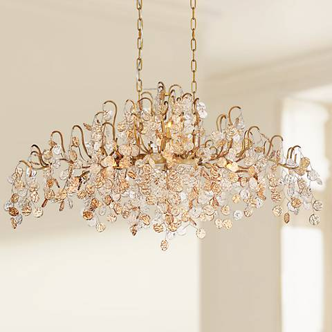 "Eurofase Campobasso 45"" Wide Gold 10-Light Chandelier"