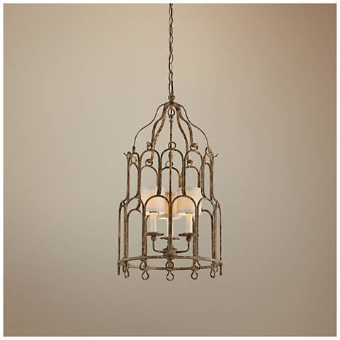 "Carousel 17 1/2"" Wide Provence Bronze Pendant Light"