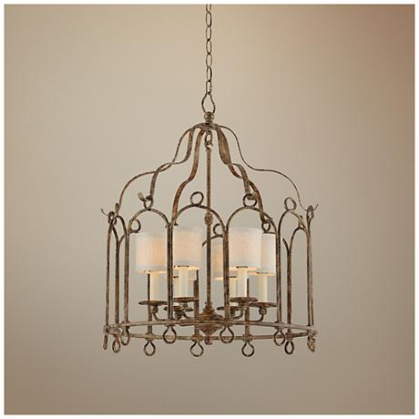 "Carousel 24"" Wide Provence Bronze Pendant Light"