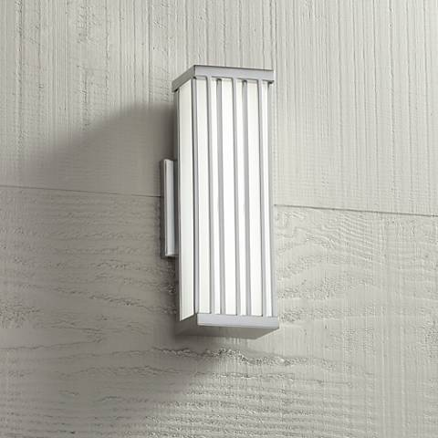 "Barelo 13"" High Matte Nickel LED Outdoor Wall Light"