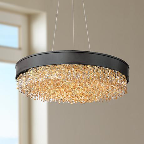 "Maxim Mystic 24"" Wide Bronze LED Pendant Light"