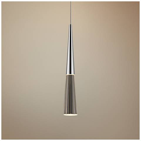 "Spire 2"" Wide Polished Chrome LED Mini Pendant"