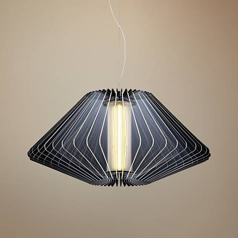 "Dimensions 21 3/4"" Wide Chrome LED Pendant Light"