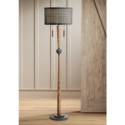 Franklin Iron Works Hunter Floor Lamp