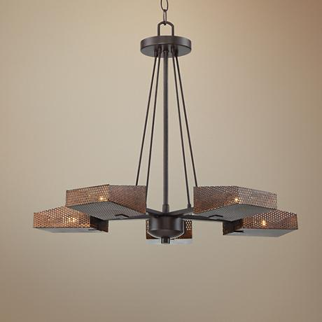 "Varaluz Gold Rush 23 1/2"" Wide Rustic Bronze Chandelier"
