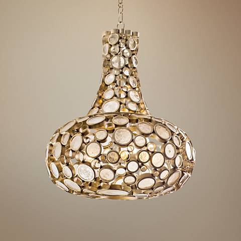 "Varaluz Fascination 24"" Wide Zen Gold Pendant Light"