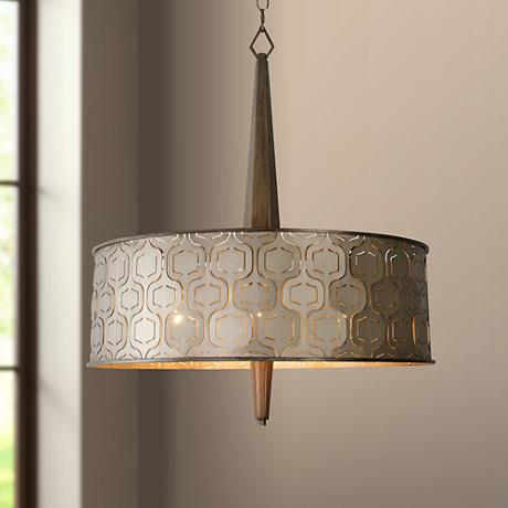 "Varaluz Iconic 24 1/2"" Wide Champagne Mist Pendant Light"