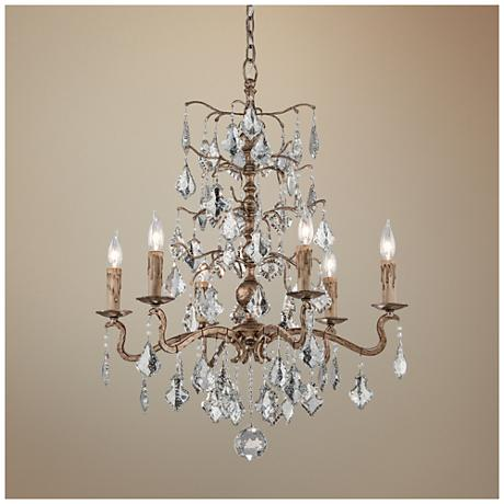 "Siena 26 1/2"" Wide Vienna Bronze Single-Tier Chandelier"