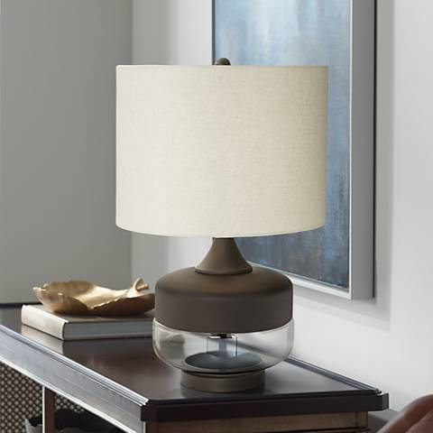Godfrey Metal and Glass Table Lamp