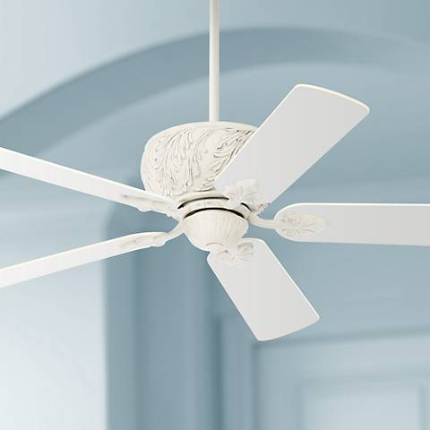 "52"" Tropik Rubbed White Ceiling Fan"