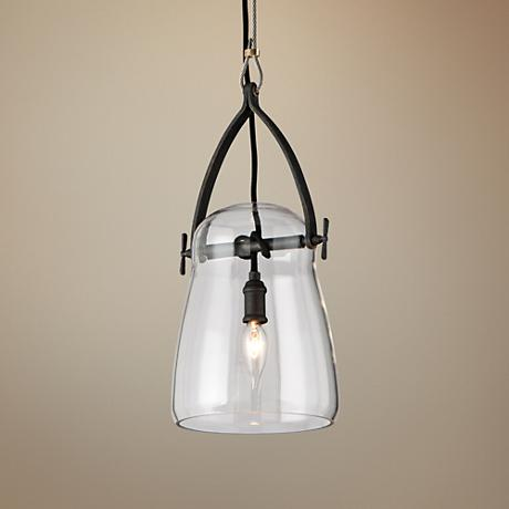 "Troy Lighting Silverlake 8"" Wide French Iron Mini Pendant"