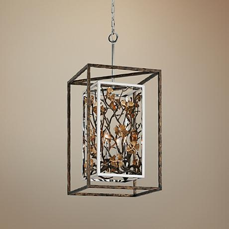 "Chrysalis 17 1/4"" Wide Cottage Bronze Pendant Light"