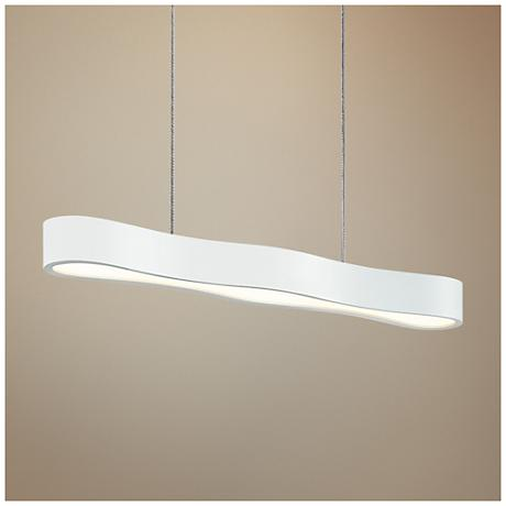 "Corso 24"" Wide Textured White LED Island Pendant"