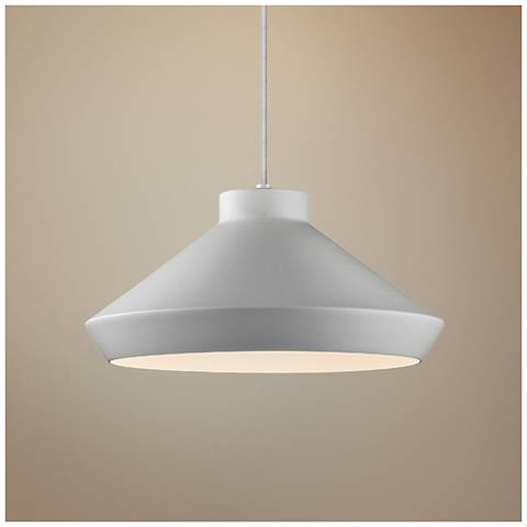 "Koma 15"" Wide Bright Satin Aluminum LED Pendant Light"