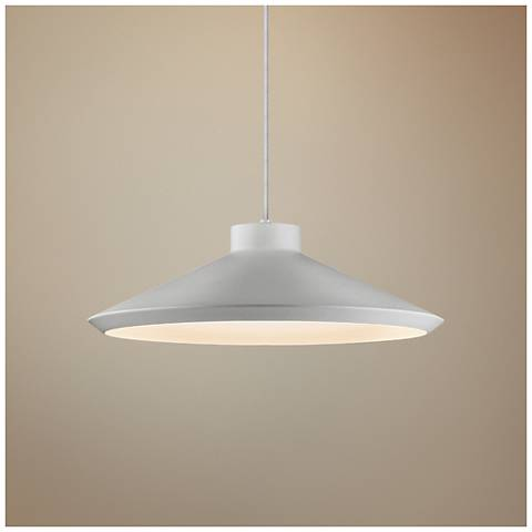 "Koma 22"" Wide Bright Satin Aluminum LED Pendant Light"