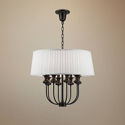 "Hudson Valley Pembroke 22"" Wide Old Bronze Pendant Light"