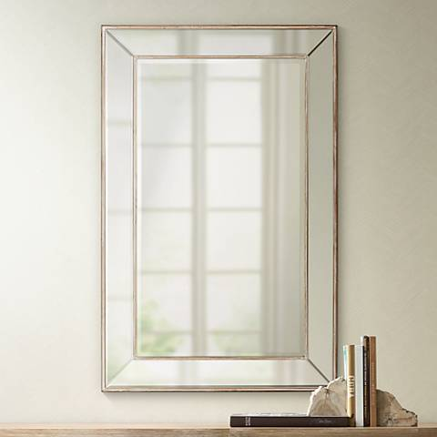 "Lewiston Wood Beveled 26 1/2""x41 1/2"" Wall Mirror"