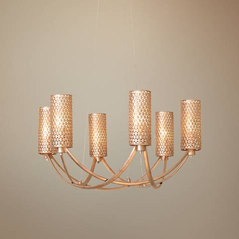 "Varaluz Casablanca 25 1/4"" Wide Zen Gold Chandelier"