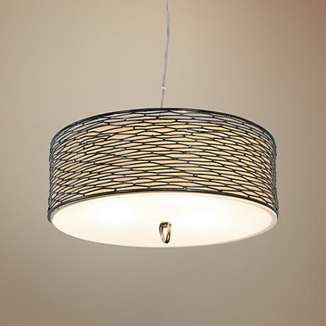 "Varaluz Flow 18"" Wide Steel Pendant Light"