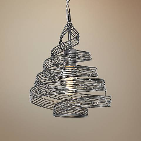 "Varaluz Flow 10"" Wide Steel Mini Pendant"