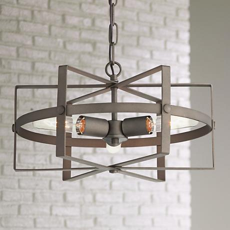 "Varaluz Reel 16 1/2"" Wide Rustic Bronze Pendant Light"