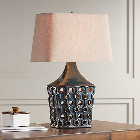 Possini Euro Zack Ceramic Nightlight Table Lamp