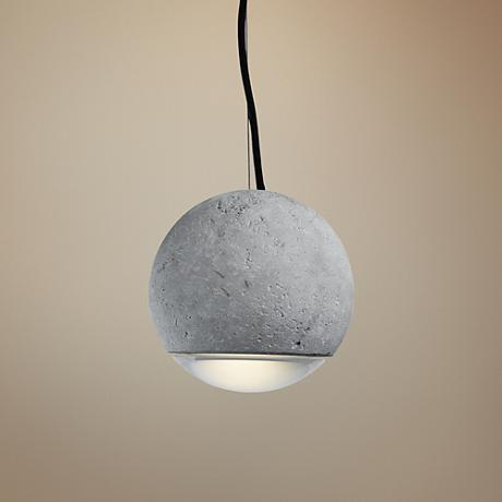 "Maxim Crete 8"" Wide Polished Chrome LED Pendant light"