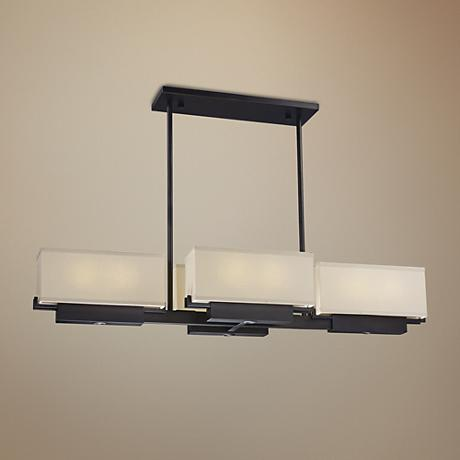 "Maxim Esquire 47 1/4"" Wide Dark Bronze LED Island Pendant"