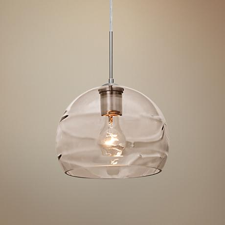"Besa Spirit 8 1/2"" Wide Optical Smoke Glass Mini Pendant"