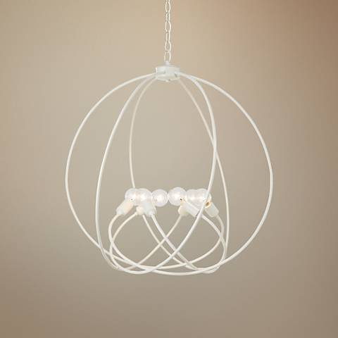 "Hubbardton Forge Orb 22 1/2"" Wide Gloss White Chandelier"