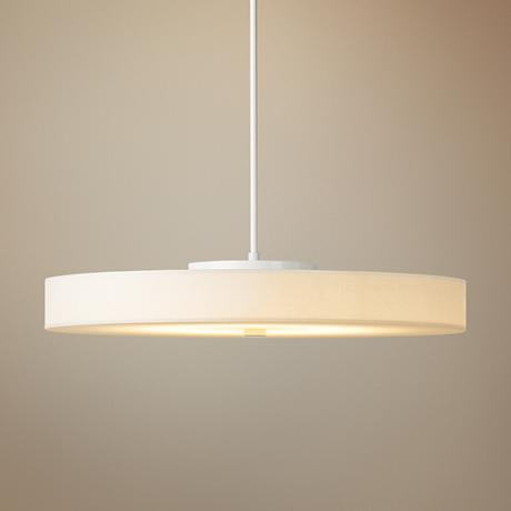 "Hubbardton Forge Disq LED 23""W Frost-White Pendant Light"