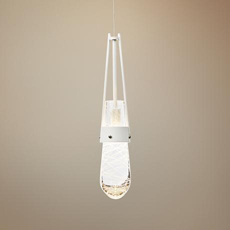 "Hubbardton Forge Link 3""W Gloss White Mini Pendant Light"