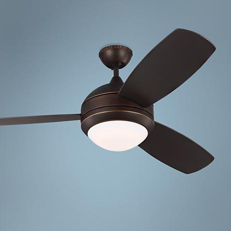 "52"" Discus Trio Roman Bronze Damp LED Ceiling Fan"