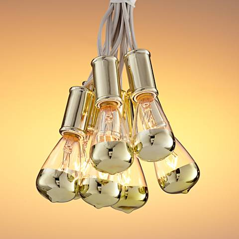 Vintage Gold 15-Light Strand Indoor String Light Set