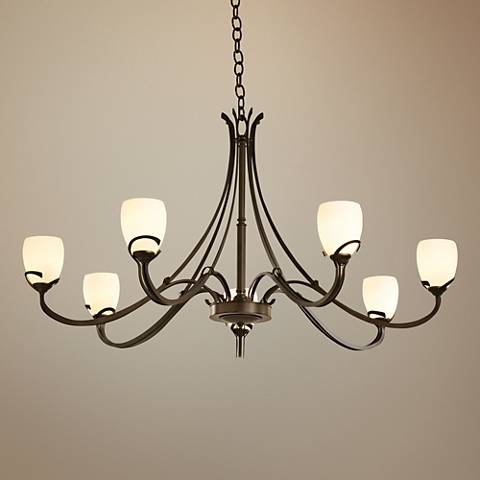 "Hubbardton Forge Aubrey 47 1/4"" Wide Bronze Chandelier"