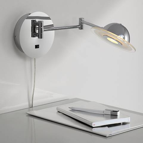 Wolther Chrome LED Plug-In Swing Arm