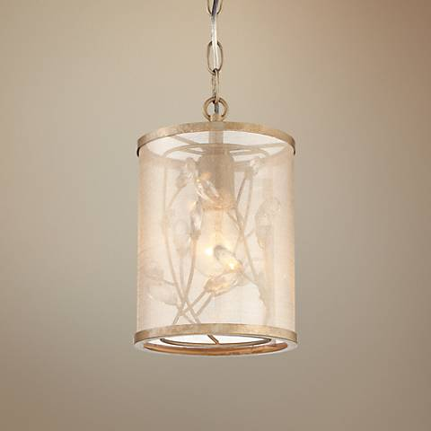 "Sara's Jewel 6 1/2""W Champagne Silver Mini Pendant Light"