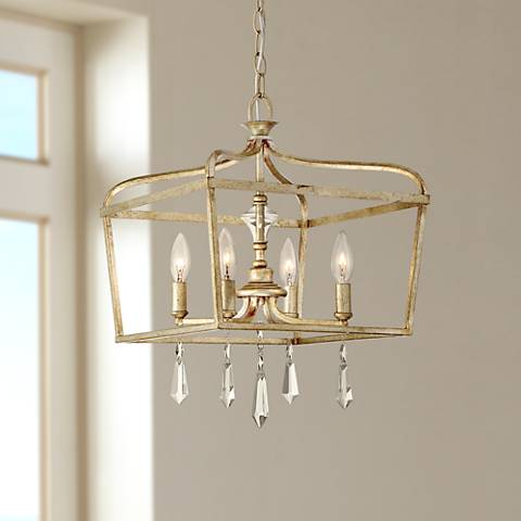 "Laurel Estate 14 1/4"" Wide Brio Gold 4-Light Pendant"