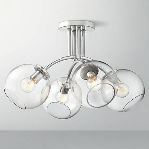 "George Kovacs Exposed 19 1/4"" Wide Chrome Ceiling Light"