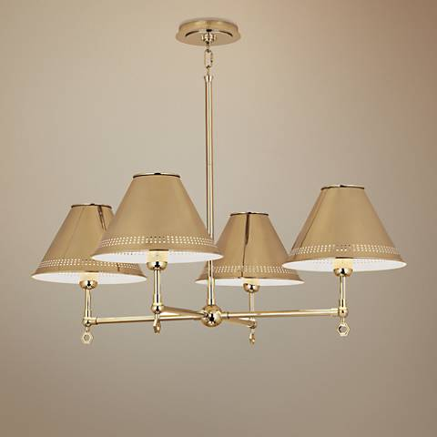 "Jonathan Adler St. Germain 32 1/2"" Wide Brass Chandelier"