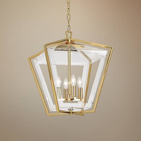 "Robert Abbey Casper 15 3/4""W Polished Brass Pendant Light"
